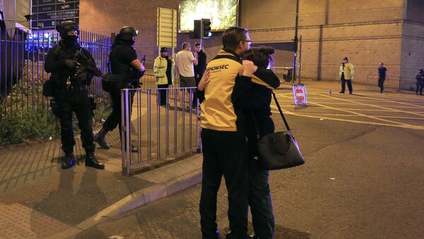 Scenes outside of the Manchester Arena after reports of an explosion  during an Ariana Grande concert in Manchester, England Monday, May 22, 2017. - Sputnik International
