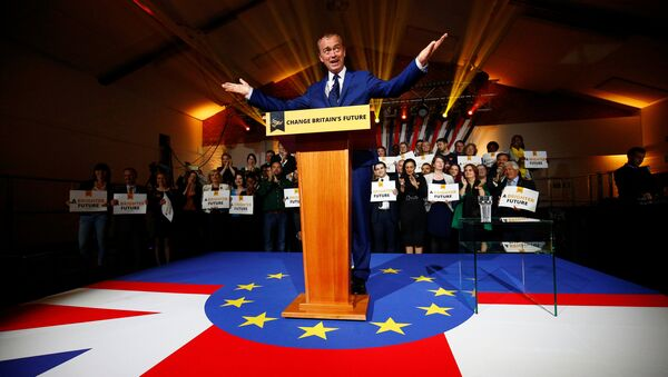 Party Leader Tim Farron delivers a speech at the Liberal Democrat manifesto launch in London, Britain May 17, 2017. - Sputnik International