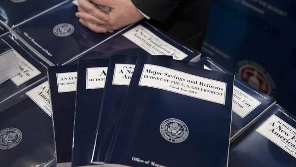 Copies of US President Donald Trump's Fiscal Year 2018 budget are released for distribution on Capitol Hill in Washington, DC - Sputnik International