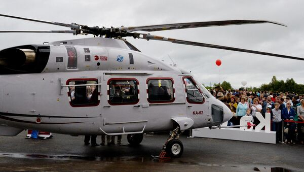 Ka-62 multi-purpose mid size helicopter at the aircraft exhibition as part of the festivities marking the 80th birthday of the Progress Arsenyev Aviation Company. (File) - Sputnik International