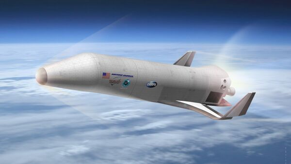 Northrop Grumman Corporation with Scaled Composites and Virgin Galactic's preliminary design for DARPA's Experimental Spaceplane XS-1, shown here in an artist's concept. DARPA ended up going with a Boeing design instead. - Sputnik International