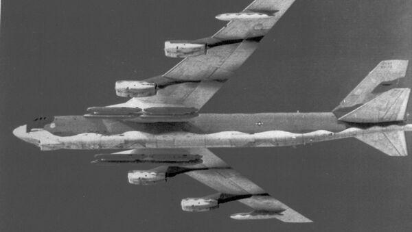 An Air Force B-52 bomber is shown in a November 1982 file photo. - Sputnik International