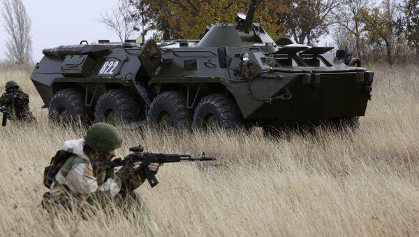 Exhibition performance of border guards in Crimea - Sputnik International