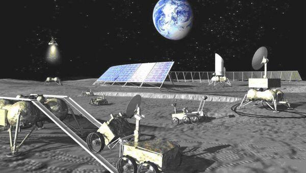 An artist concept of a Russian lunar base - Sputnik International