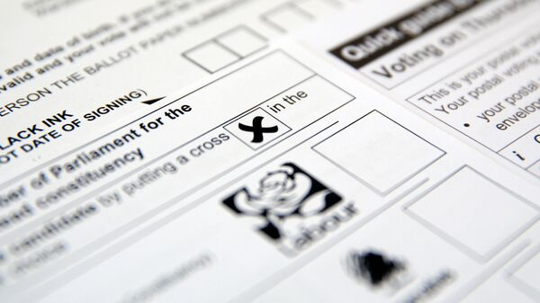 Postal voting papers for the UK general election, which is due to take place June 8, 2017, are seen in this illustration picture taken May 26, 2017 - Sputnik International
