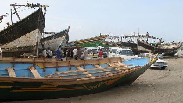 Hodeidah, Yemen - fishing boats - Sputnik International
