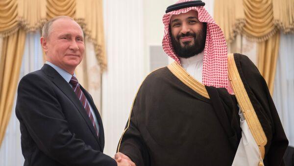May 30, 2017. Russian President Vladimir Putin meets with Deputy Crown Prince of Saudi Arabia, Second Deputy Prime Minister and Defense Minister Mohammad bin Salman Al Saud, right. - Sputnik International