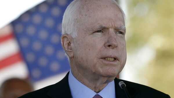 In this May 30, 2016, photo, Sen. John McCain, R-Ariz, speaks during a Phoenix Memorial Day Ceremony at the National Memorial Cemetery of Arizona in Phoenix. - Sputnik International