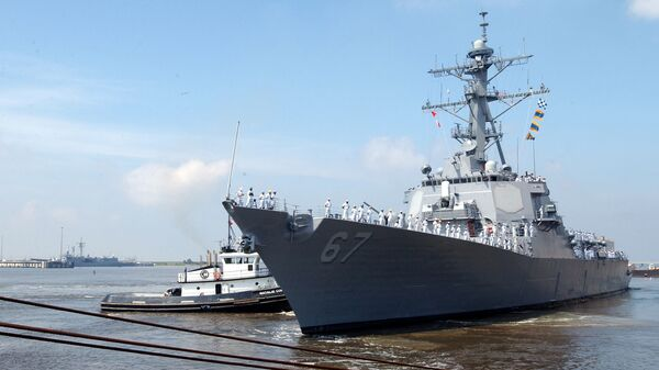 US Navy guided missile destroyer USS Cole (DDG 67) - Sputnik International