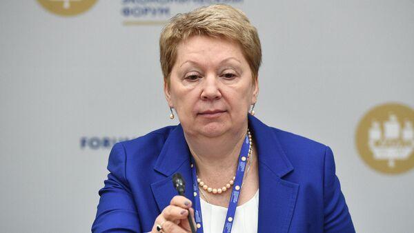 Minister of Education and Science Olga Vasilyeva at the 2017 St. Petersburg International Economic Forum - Sputnik International