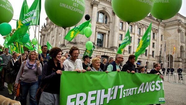 A demonstration by the German Alliance 90/The Greens, called #FsA14 - Freiheit statt Angst [freedom instead of fear] - Sputnik International