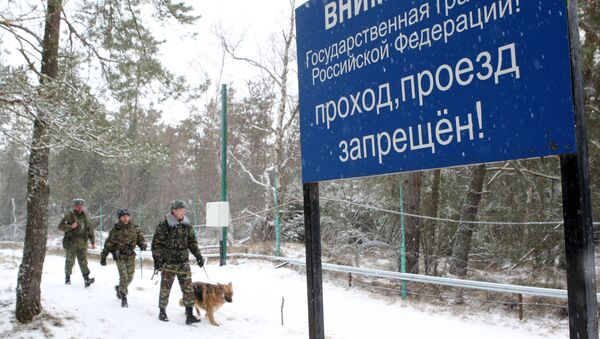Work of border guards on Russian-Lithuanian border in Ribachy village, Kaliningrad region - Sputnik International