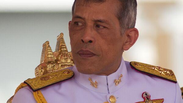 Thailand's King Vajiralongkorn Bodindradebayavarangkun addresses the audience at the royal plowing ceremony in Bangkok, Thailand, Friday, May 12, 2017. - Sputnik International