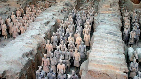 The 2,000-year-old terracotta army at the Qin Terracotta Warriors and Horses Museum, in Xian, central China's Shaanxi province. (File) - Sputnik International