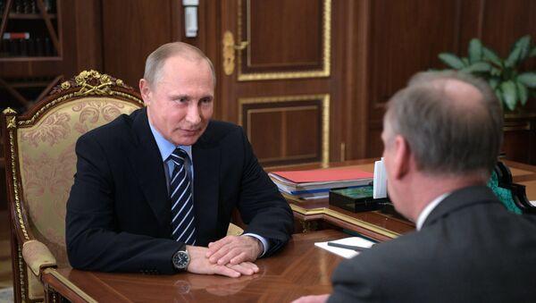 President Putin meets with Russia's Security Council Secretary Patrushev - Sputnik International