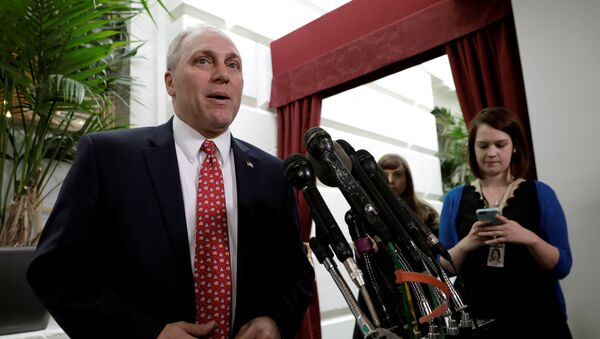House Majority Whip Steve Scalise (R-LA) speaks to reporters at the U.S. Capitol, hours before an expected vote to repeal Obamacare in Washington, D.C., U.S. on May 4, 2017 - Sputnik International