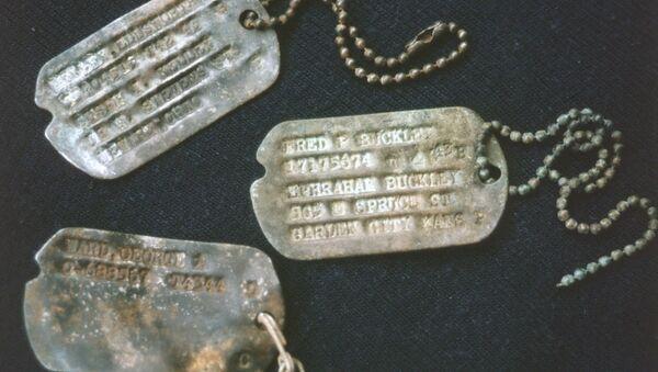 Dog Tags of US Lost Bomber from World War II - Sputnik International