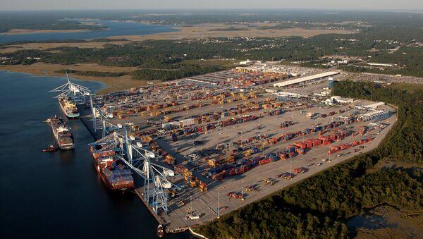 Wando Welch Terminal, Port of Charleston - Sputnik International