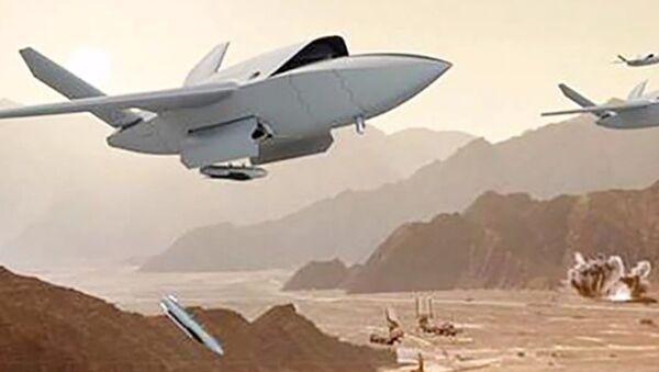 Robotic drpne UTAP-22 Mako, developed Kratos Defense & Security Solutions - Sputnik International