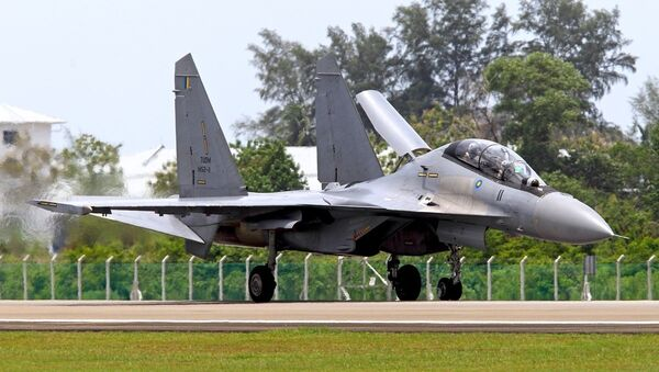 Sukhoi Su-30MKM, a variant only used by the Royal Malaysian Air Forces. - Sputnik International