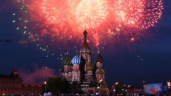 Russia Day fireworks display on Red Square, Moscow - Sputnik International