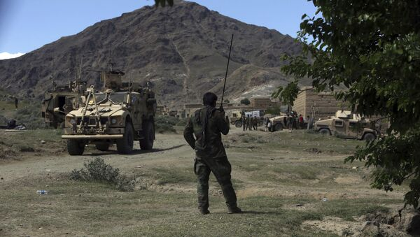 U.S. forces and Afghan commando are seen in the Achin district, Afghanistan. (File) - Sputnik International