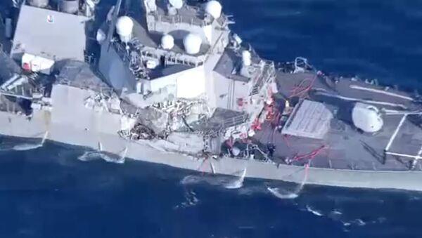 Damaged USS Fitzgerald - Sputnik International