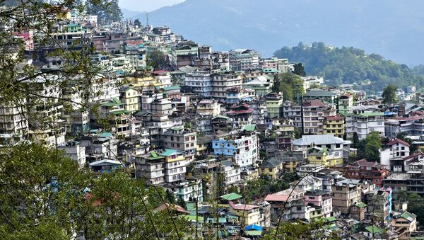 General view of Gangtok in the north-eastern Indian state of Sikkim - Sputnik International