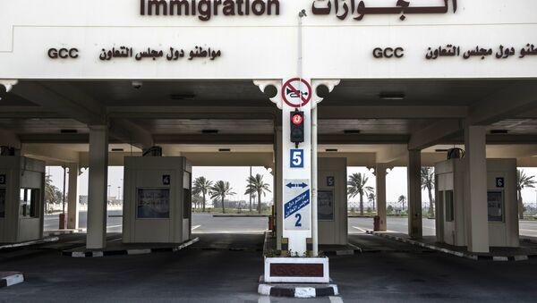 Checkpoint on the closed border between Qatar and Saudi Arabia - Sputnik International