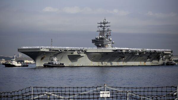 U.S. navy nuclear-powered aircraft carrier USS Ronald Reagan. (File) - Sputnik International
