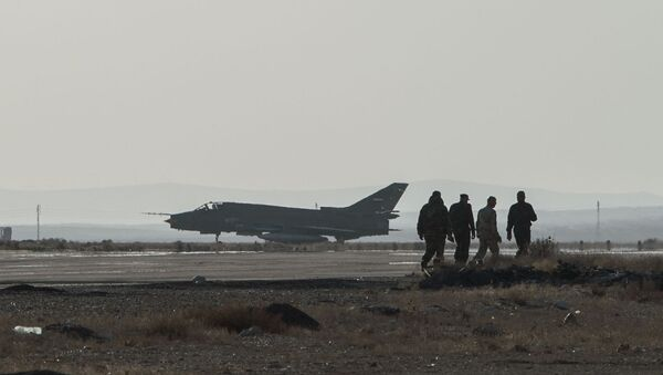 A Su-22 fighter jet at the Syrian Air Force base in Homs province. File photo - Sputnik International