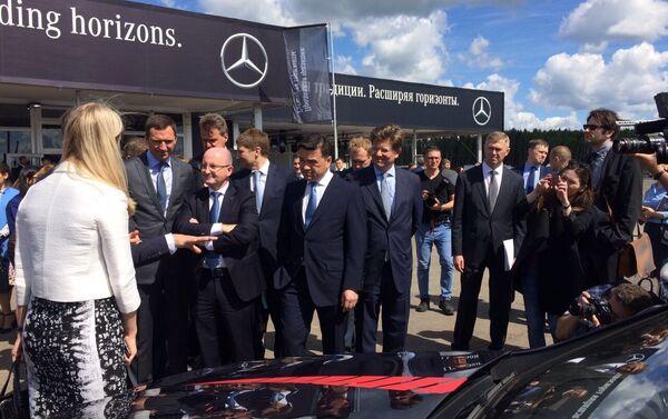 At Daimler's construction site close to Moscow - Sputnik International