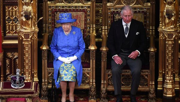 Britain's Queen Elizabeth and Prince Charles attend the State Opening of Parliament in central London, Britain June 21, 2017.  - Sputnik International