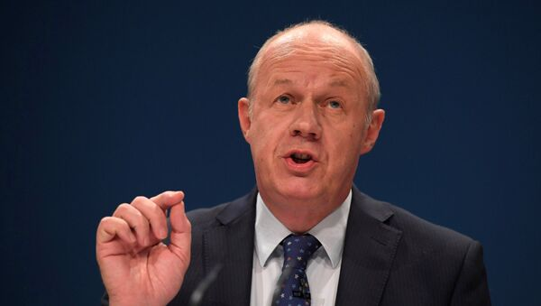 (File) Britain's Work and Pensions Secretary Damian Green delivers his keynote address at the annual Conservative Party Conference in Birmingham, Britain, October 4, 2016 - Sputnik International