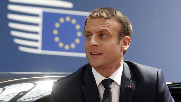 French President Emmanuel Macron arrives for an EU summit in Brussels on Thursday, June 22, 2017 - Sputnik International