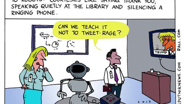 Robot Manners Cartoon - Sputnik International