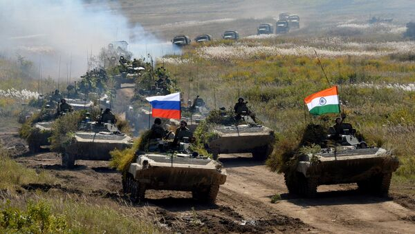 Indra 2016 Russian-Indian military exercise in Primorye Territory. File photo - Sputnik International