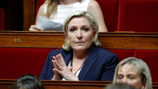 Marine Le Pen of France's far-right National Front (FN) political party at the opening session of the French National Assembly in Paris, France, 27 June 2017. - Sputnik International