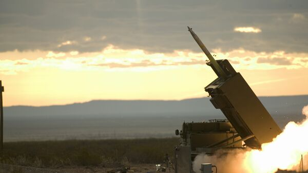 The final pre-acceptance trial of the GMLRS (Guided Multiple Launch Rocket System) at White Sands Missile Range, New Mexico, USA - Sputnik International