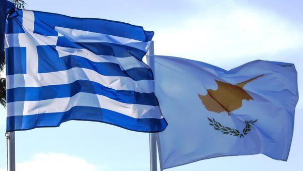 Flags of Greece, Cyprus - Sputnik International