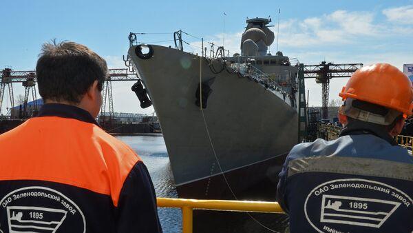 Gepard 3.9 frigate floated out in Zelenodolsk. File photo - Sputnik International