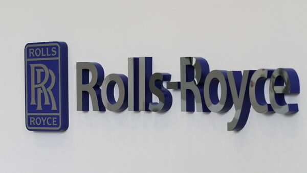 A Rolls-Royce logo at the Rolls-Royce Crosspointe manufacturing and research facility in Prince George, Va., Monday, May 2, 2011. The plant was built to produce disks for new generation turbofan engines. - Sputnik International