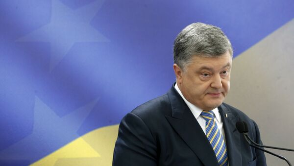 Ukrainian President Petro Poroshenko speaks during a news conference in Kiev, Ukraine (File) - Sputnik International