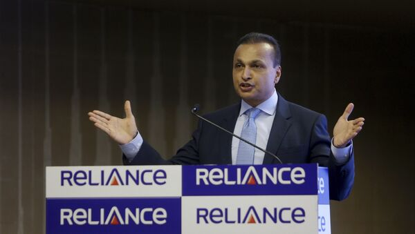 Reliance Group Chairman Anil Ambani speaks during a press conference in Mumbai, India, Friday, June 02, 2017 - Sputnik International