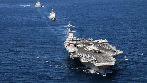 USS George H.W. Bush action - Sputnik International