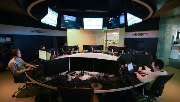 Kaspersky Lab employees at work in the company's office in Moscow - Sputnik International