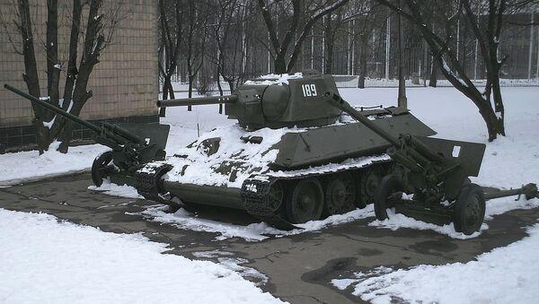 T-34 medium tank on display at Donetsk museum - Sputnik International