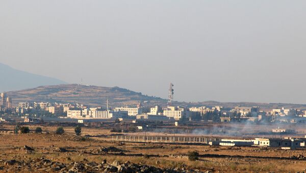 A general view shows Baath city, bordering the Israeli-occupied Golan Heights, Syria June 24, 2017 - Sputnik International