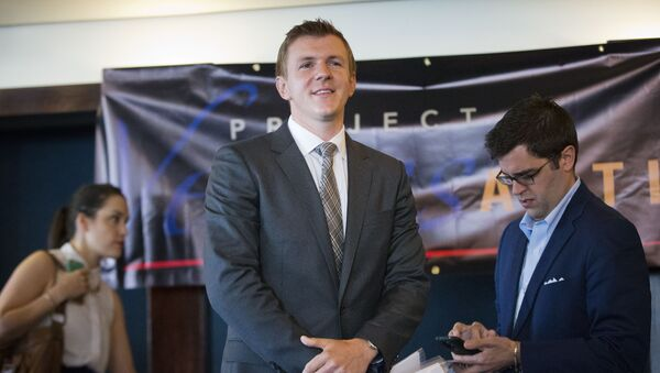 James O'Keefe, President of Project Veritas Action, waits to be introduced during a news conference at the National Press Club in Washington. (File) - Sputnik International