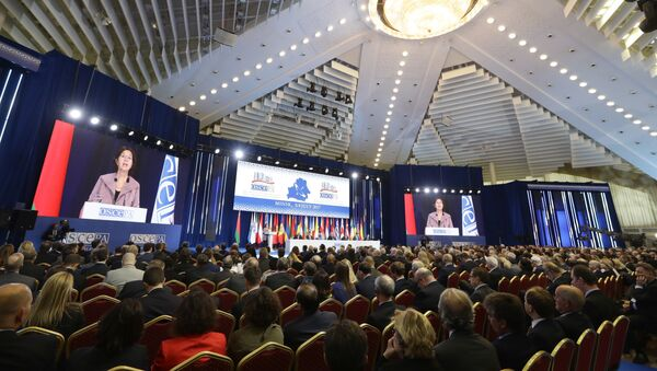 President of the OSCE PA, Austria's Christine Muttonen speaks during the OSCE Parliamentary Assembly's 26th Annual Session in Minsk, Belarus, Wednesday, July 5, 2017 - Sputnik International
